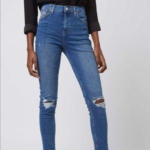 Topshop Moto Jamie Ankle Grazer Jeans